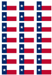 Texas Flag Stickers - 21 per sheet